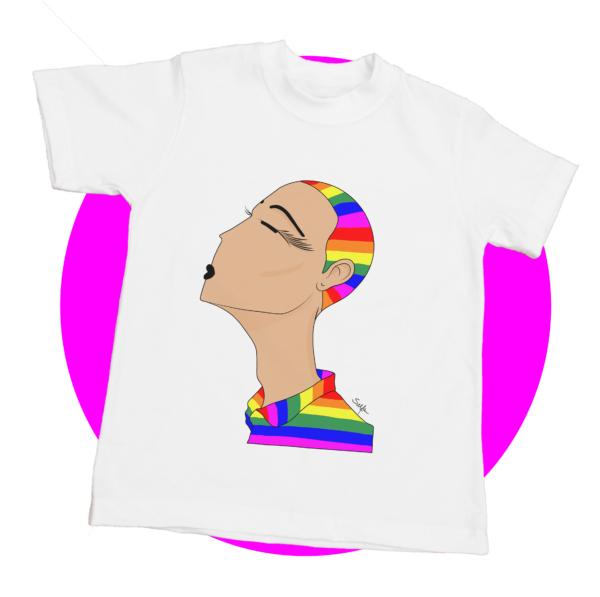 Camiseta orgullo gay lésbico bisexual ilustración